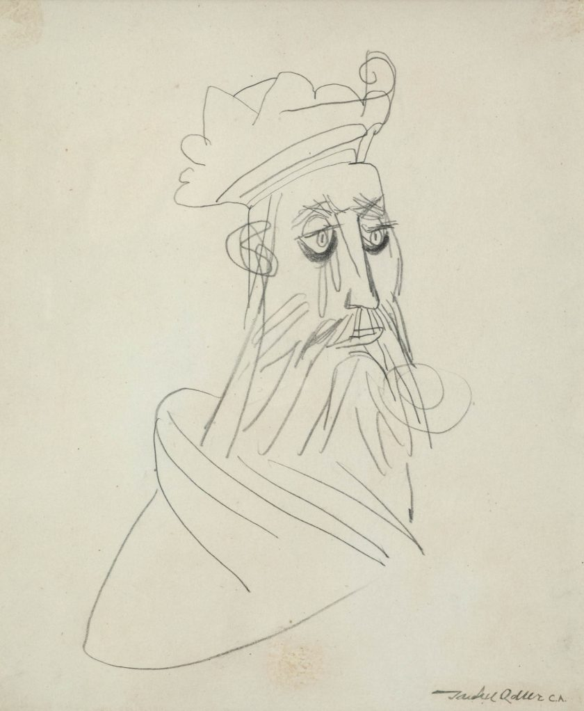 AdlerJankel_Rabbi_Drawing_24x20