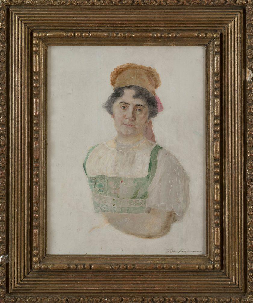 KaufmannIsidor_PortraitWoman_OilPanel_40.5x31.5_Frame