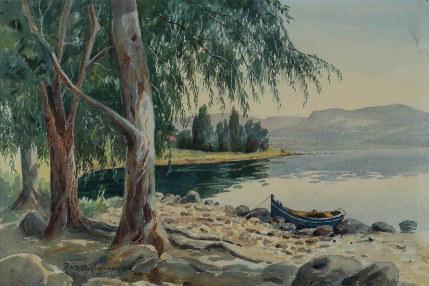 StephensonPhilippaHannaFrederica_LakeKinneret_Watercolour_26x39