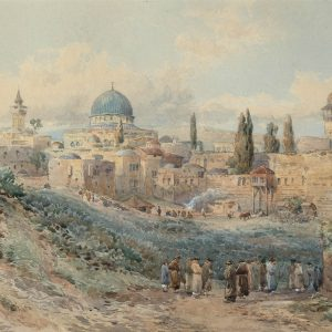 Green_Jerusalem_Watercolour_27x43